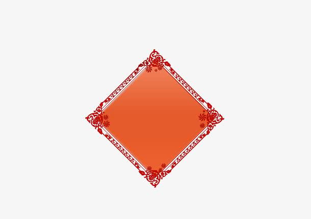 春节,年货节,传统节日,边框,中国风,免扣png,素材