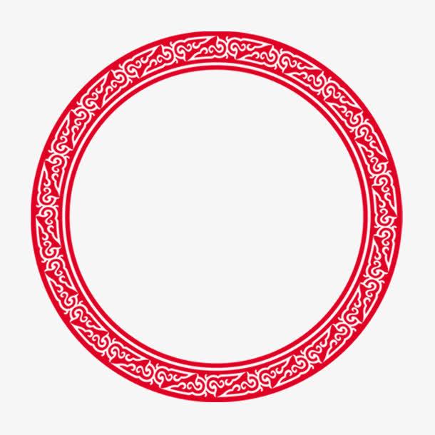 装饰圆形边框,红色边框,免扣png