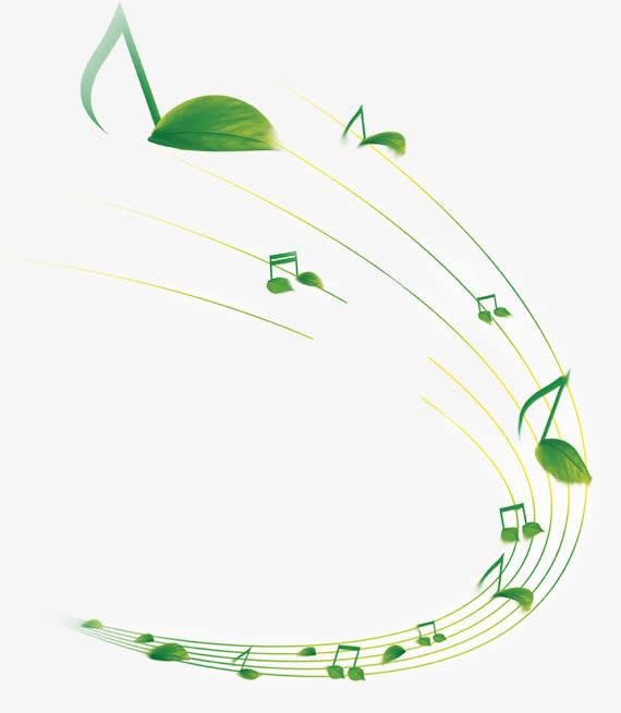 png素材 音乐音符 绿叶免抠素材免费下载_觅元素51.