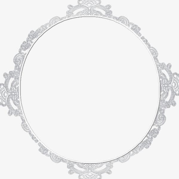 银色 圆形边框png素材