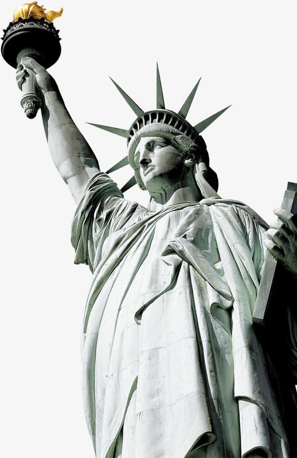 自由女神像 美国元素 png免抠素材免费下载_觅元素51.