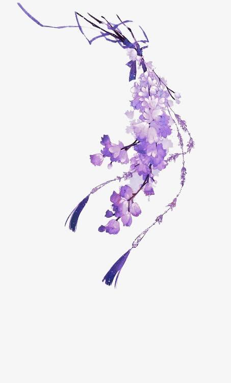 蓝色花瓣 手绘花瓣