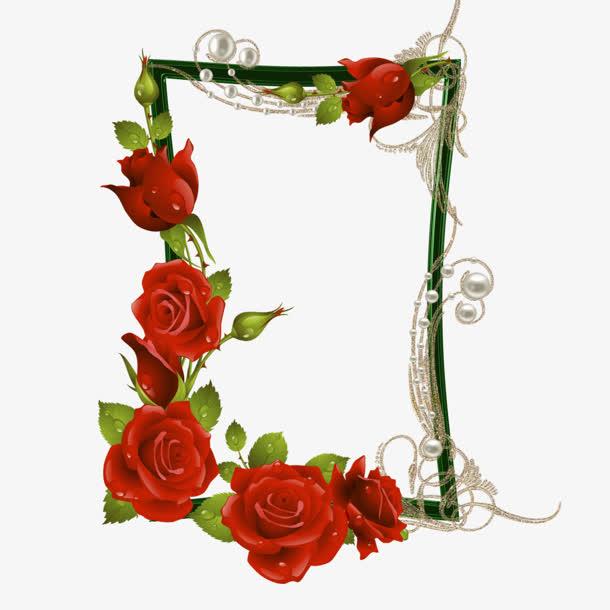 装饰元素 边框 > 红色玫瑰花样相框  收藏 [声明] 觅元素所有素材为
