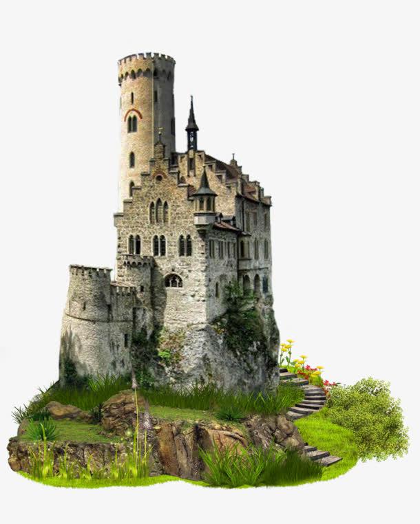 欧美碉楼城堡免抠素材免费下载_觅元素51yuansu.com