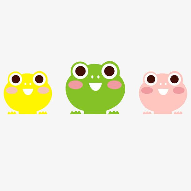 手绘/卡通 卡通元素 > 三只可爱小青蛙  收藏 [声明] 觅元素所有素材