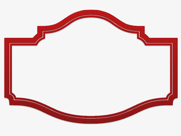 红色边框古风部分圆型免抠素材免费下载_觅元素51.