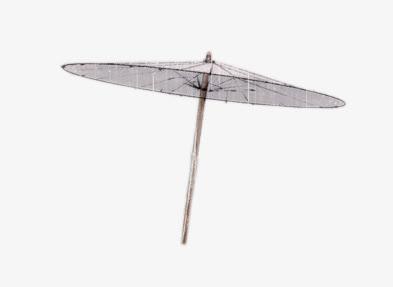 水墨花折伞古风雨伞免抠素材免费下载_觅元素51yuansu