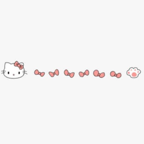 hello kitty猫咪分割线可爱免抠素材免费下载_觅元素.