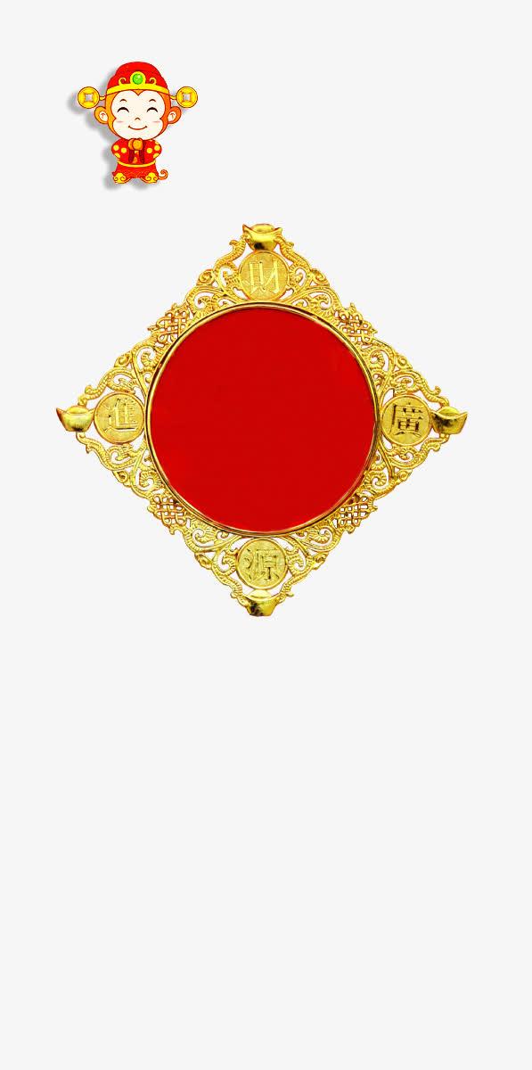 金色中国风边框装饰免抠素材免费下载_觅元素51yuansu