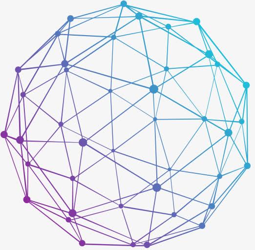 科技网络线条球