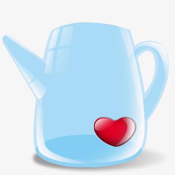 淡蓝色浇水壶