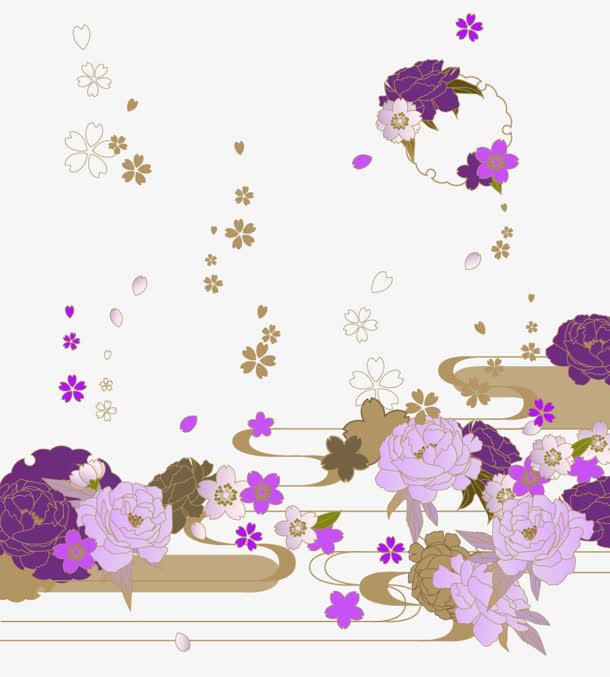 牡丹花花瓣飘落装饰免抠素材免费下载_觅元素51yuansu