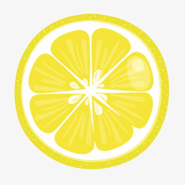 柠檬片卡通水果