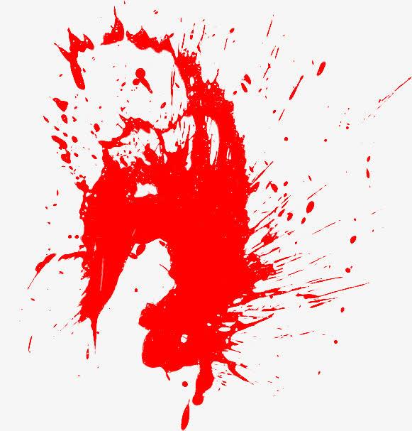 红色水墨喷溅装饰免抠素材免费下载_觅元素51yuansu.