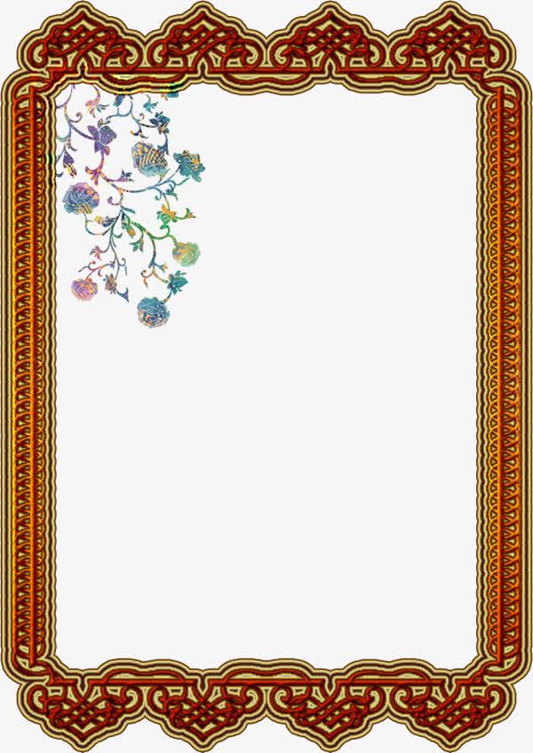 古风窗棂边框古纹免抠素材免费下载_觅元素51yuansu.