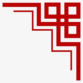 中国风边框红色窗棂边框