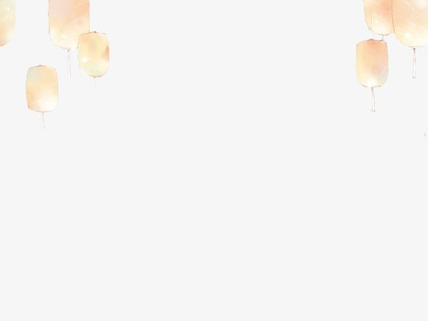 白色灯笼古风素材