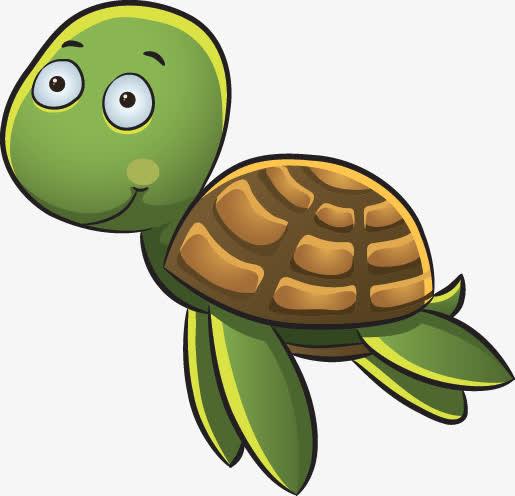 卡通乌龟表情可爱