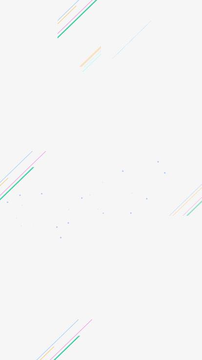 彩色线条漂浮装饰