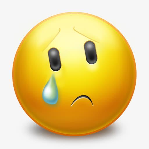 可爱圆形哭泣qq表情png图标