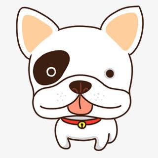 小白狗卡通素材免抠素材免费下载_觅元素51yuansu.com