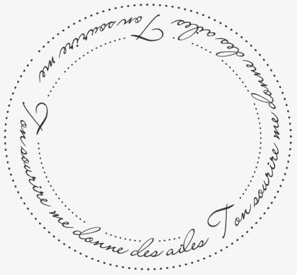 英文字母花纹边框