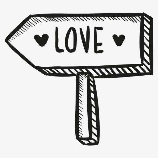 love指路牌图标