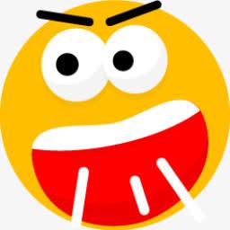 咒骂黄色圆脸表情png图标图片