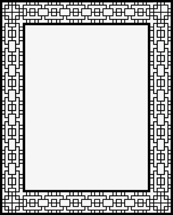 黑色正方形交叠古风边框海报背景