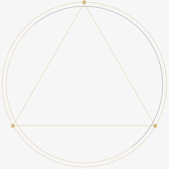 线条圆形三角形