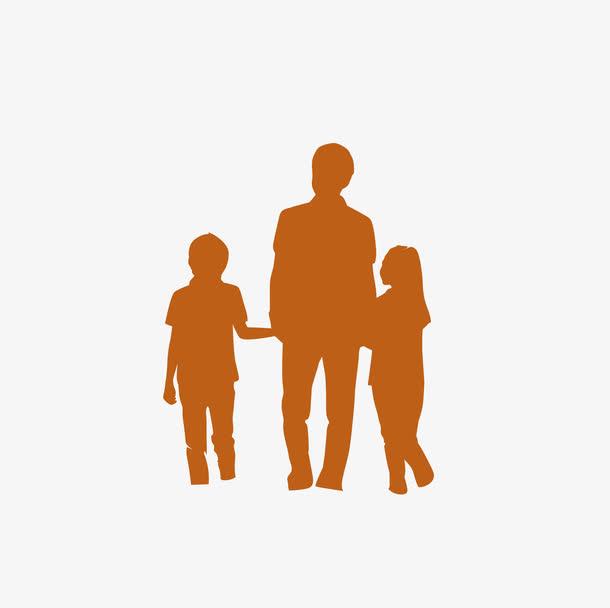父子剪影六一儿童节61亲情免抠素材免费下载_觅元素51