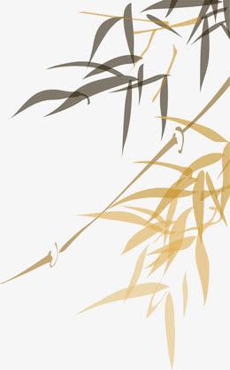 端午节竹叶叶子水墨画
