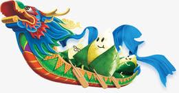 端午节龙舟粽子卡通装饰