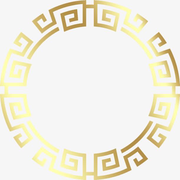 中国风圆形花纹边框