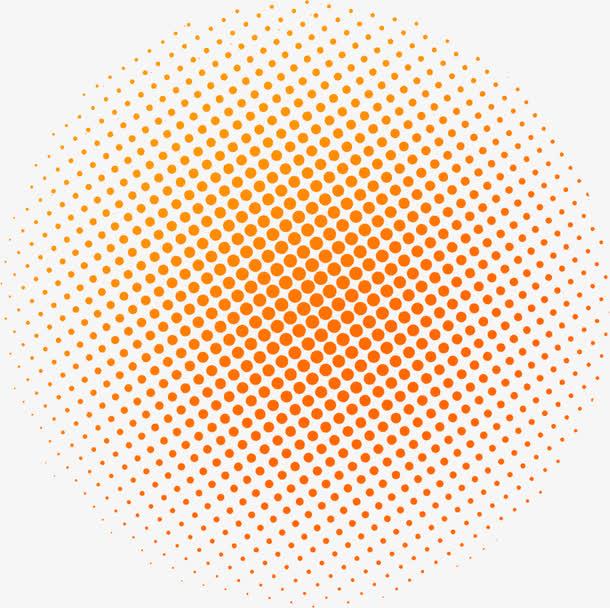 红色斑点圆形装饰图案