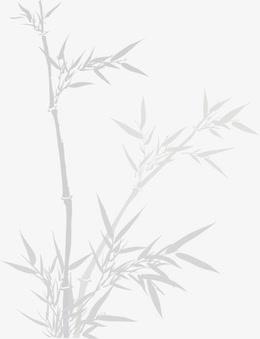 灰色水墨竹子竹叶
