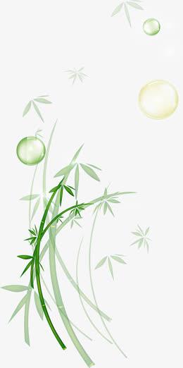 竹子气泡端午节