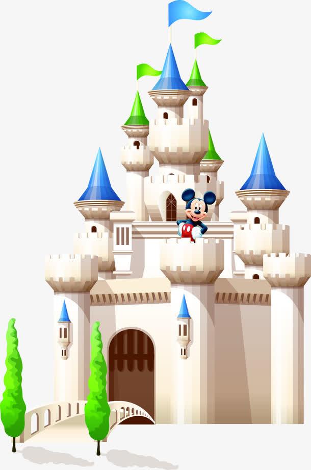 迪士尼卡通城堡免抠素材免费下载_觅元素51yuansu.com