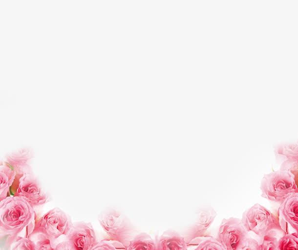 粉色玫瑰花边框素材