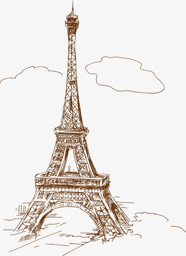 埃菲尔铁塔风景简笔画