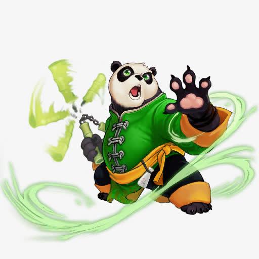 会双截棍的功夫熊猫海报背景免抠素材免费下载_觅元素