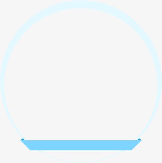 蓝色圆形小舟免抠素材免费下载_觅元素51yuansu.com