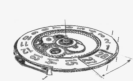 手绘机械表盘