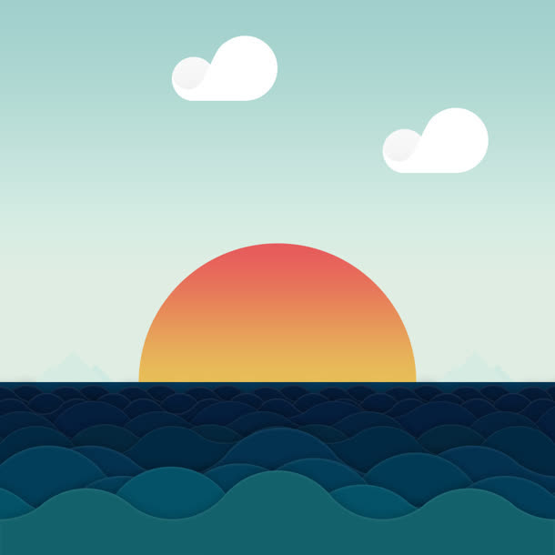 日出设计矢量图
