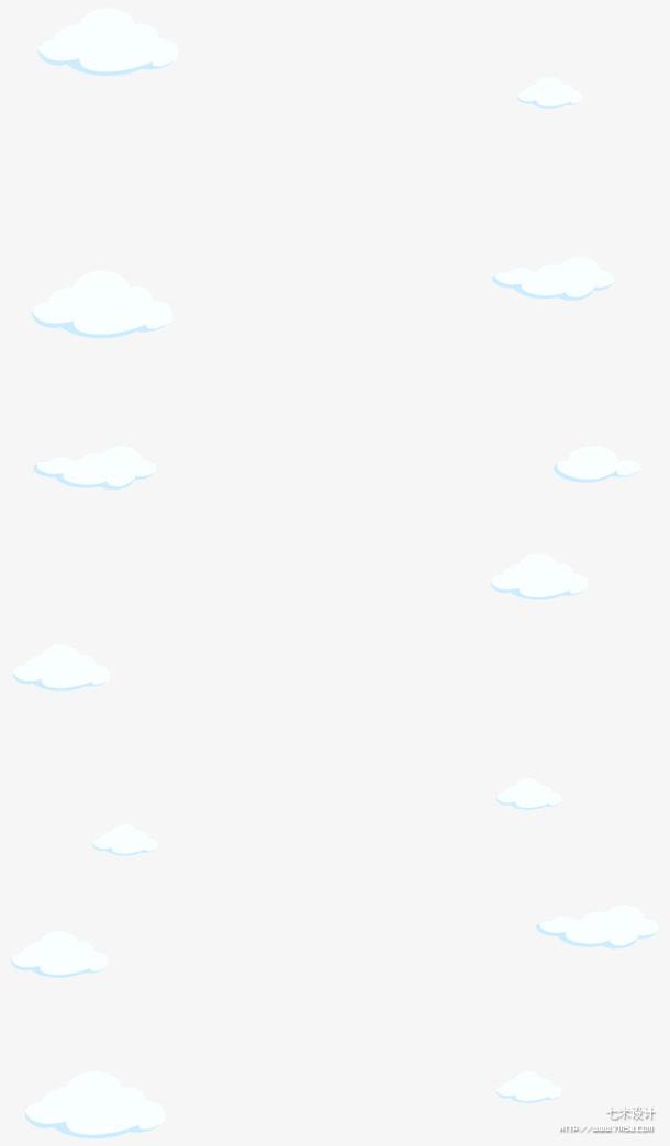 纯白底色的白色云彩免抠素材免费下载_觅元素51yuansu