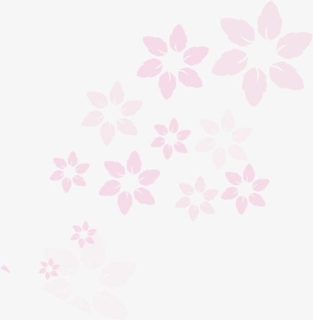 红色卡通花朵免抠素材免费下载