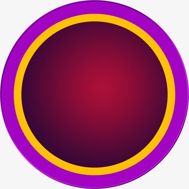圆形纯色背景紫色黄色红色矢量背景图片