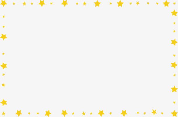 黄色卡通星星花边背景