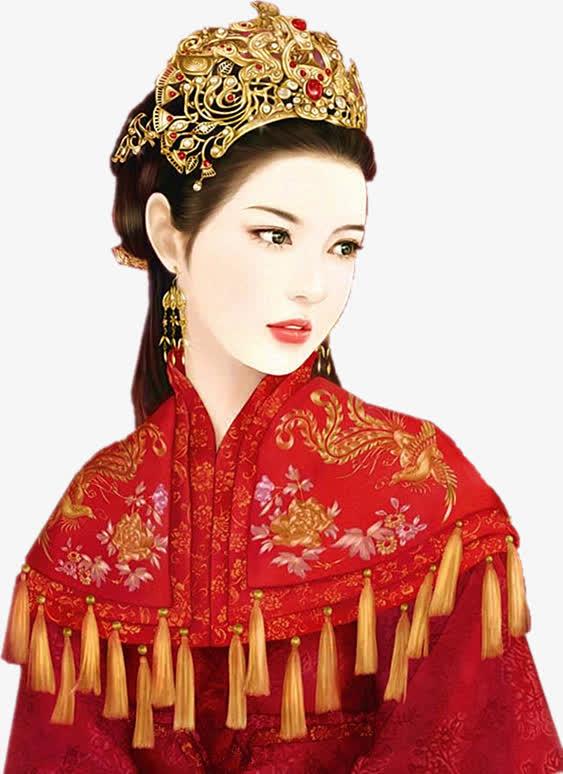 华丽新娘金饰古风手绘