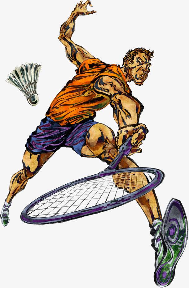 手绘/卡通 卡通元素 > 手绘羽毛球时尚运动人物  收藏 000 编号cels图片